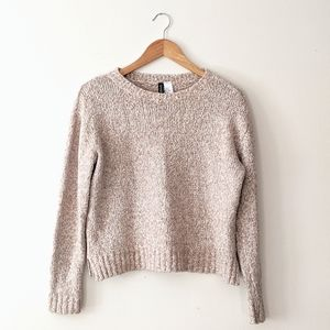H&M Cream Knit Long Sleeve Sweater